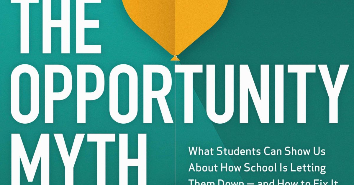 How Do We Show Students Who They Could >> Introduction The Opportunity Myth